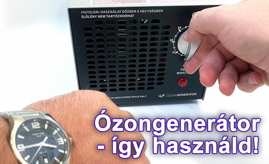 Ózongenerátor használata, az időtartam beállítása
