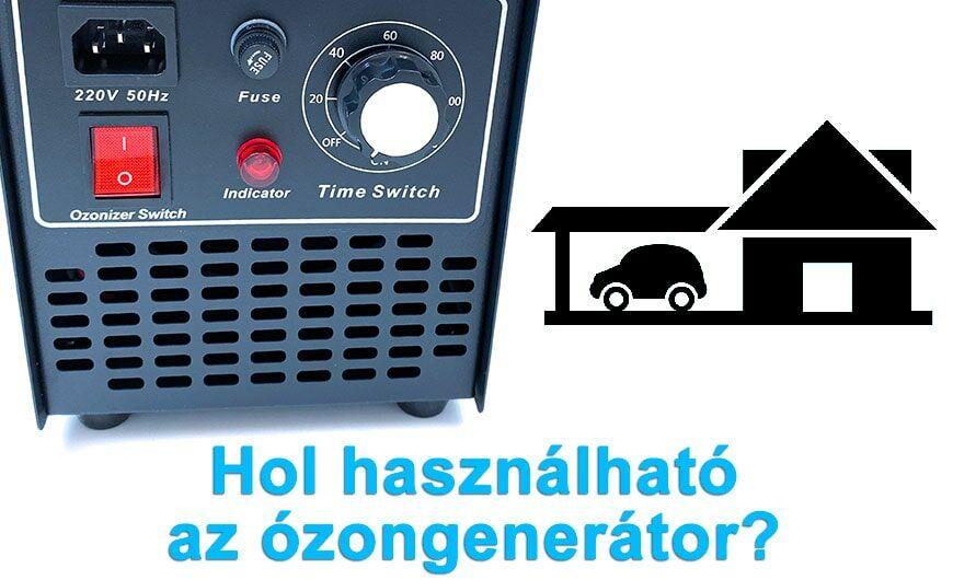 Ózongenerátor időzítővel, kapcsolóval