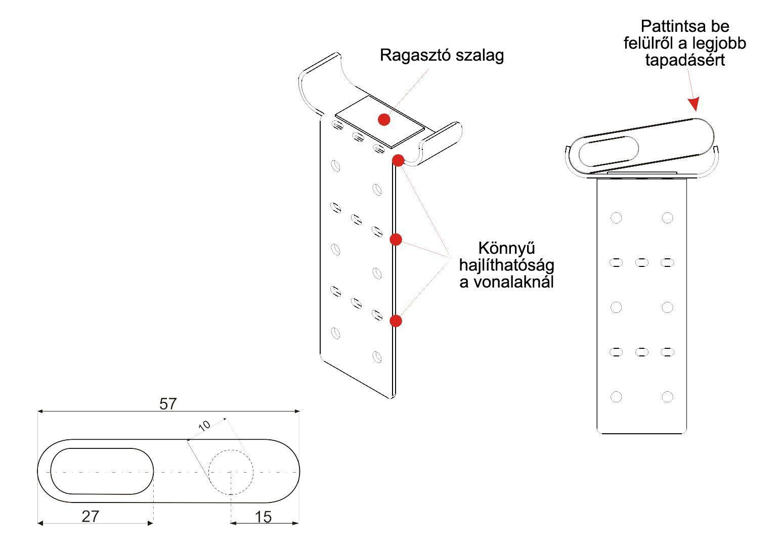ALP lézerblokkoló használati utasítás fej tartó konzol használata ábra