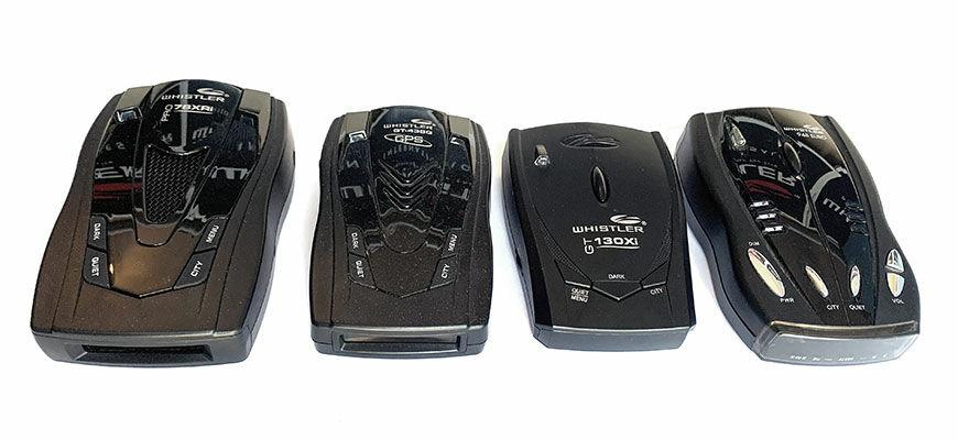 Whistler radardetektorok időrendi sorrendben.