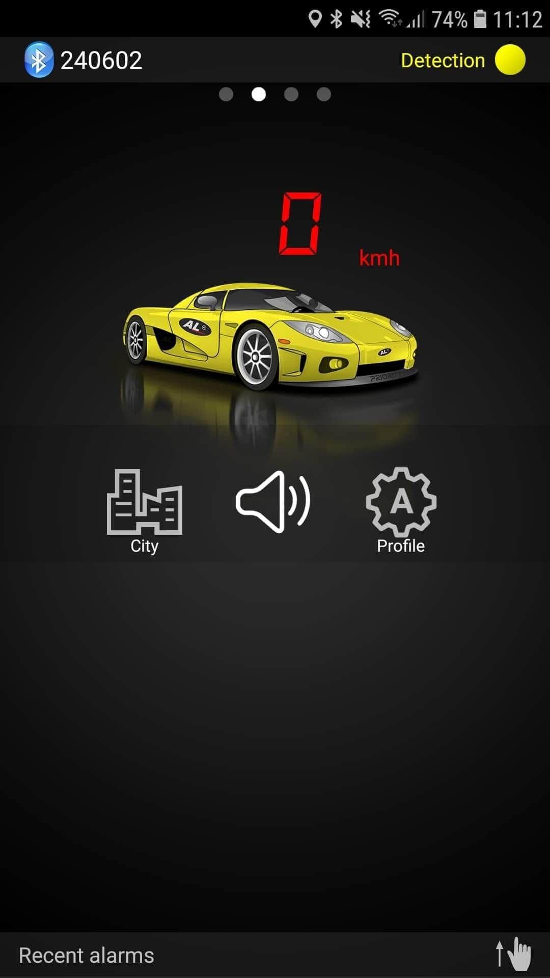 ALP Connect applikáció érzékelő üzemmódban