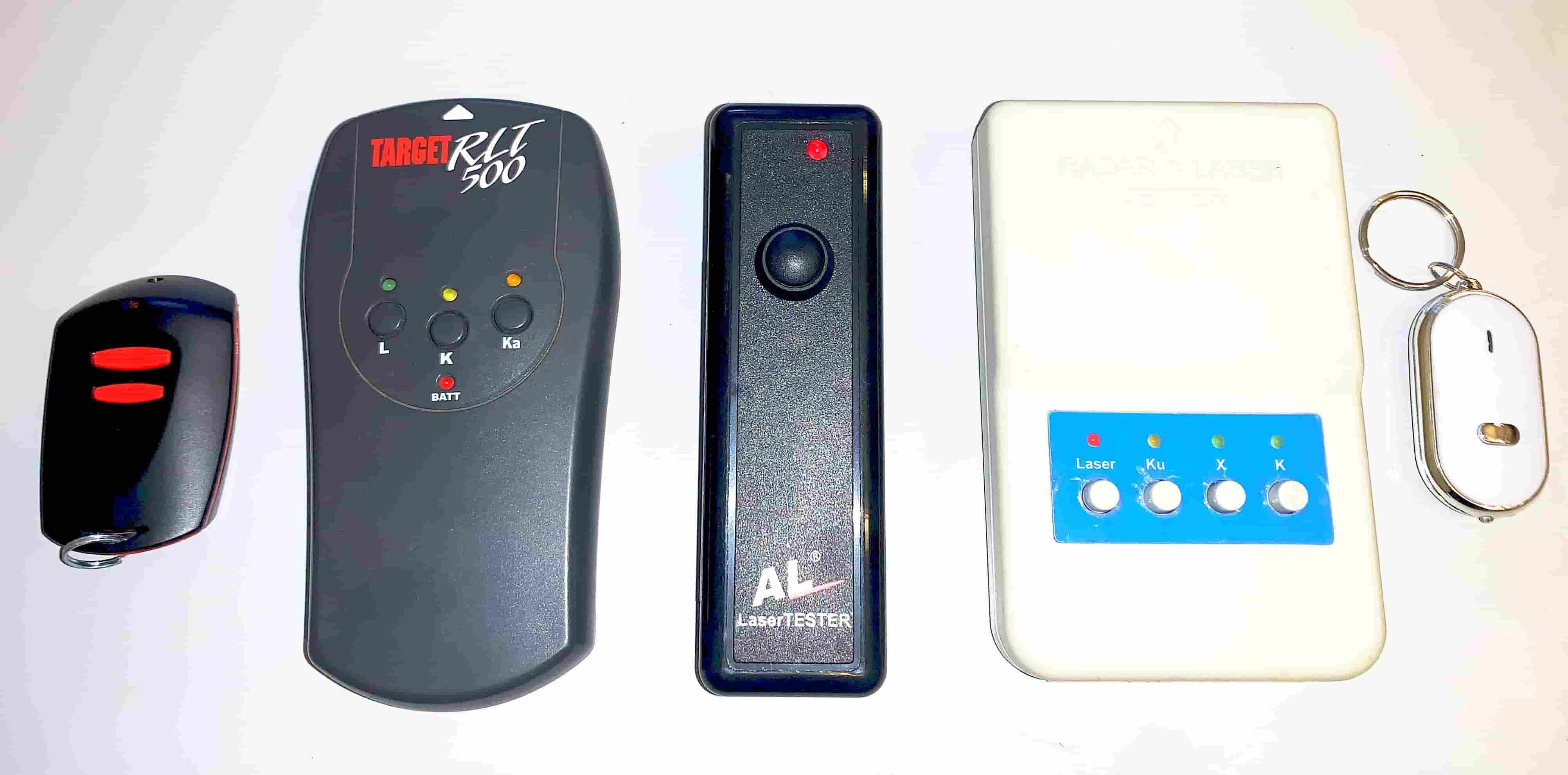Lézerblokkoló és radardetektor teszterek