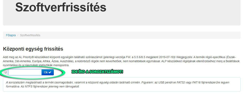 AL Priority lézerblokkoló frissítő oldal