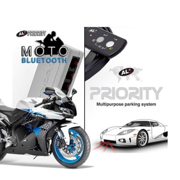 Az AL Priority megoldása motorosoknak, egy szenzorral (rendszámtáblához), vízálló vezérléssel. Saját Bluetooth audió rendszerrel ellátott 'Bluetooth' változat - így még kényelmesebben értesülhetsz a riasztásokról.