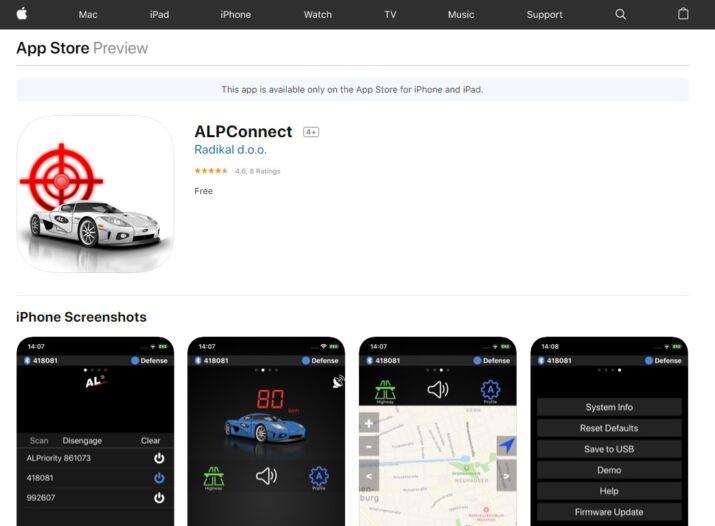 ALP lézerblokokló applikáció iOS rendszerhez
