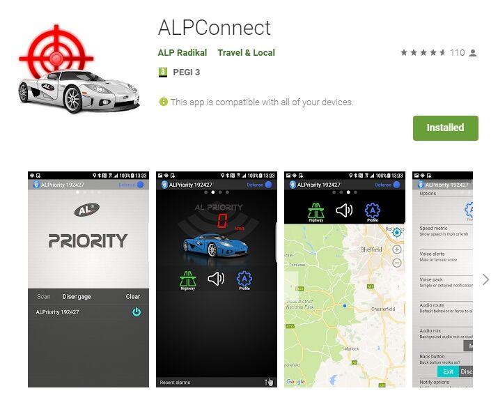 ALP lézerblokkoló applikáció android rendszerhez
