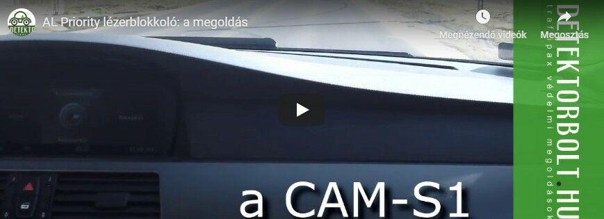 AL Priority így jelzi a CAM-S1 lézert