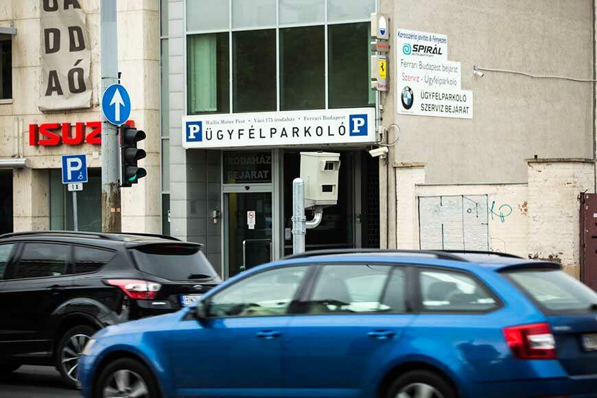 Megérkezett az új traffipax Budapestre
