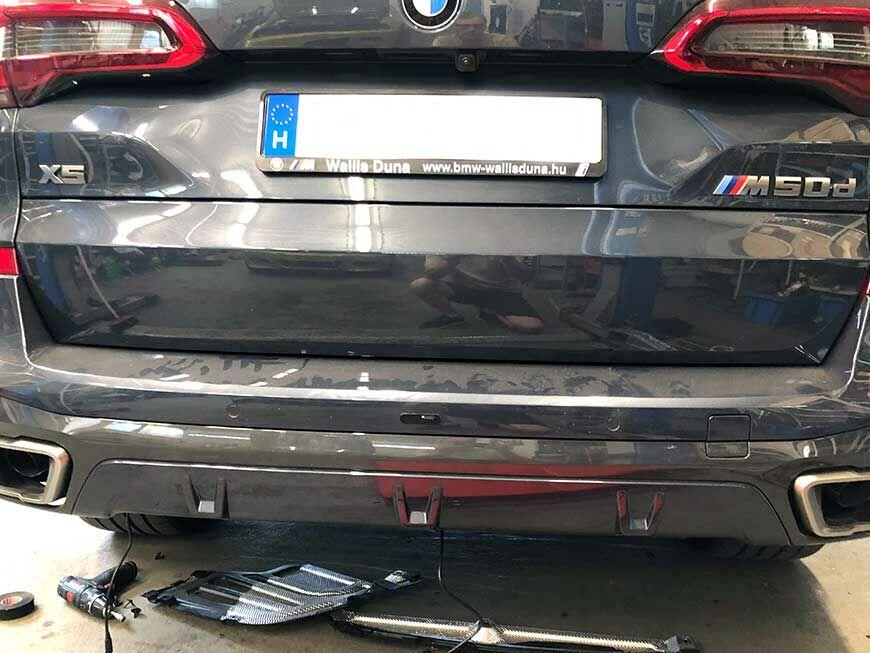 BMW lézerblokkoló hátsó szerelés X5